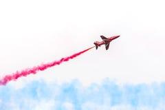 Aviões vermelhos da seta Fotografia de Stock Royalty Free
