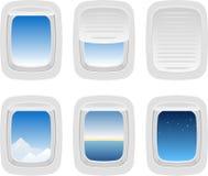 Aviões Windows ilustração stock