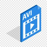 AVI file extension isometric icon Stock Image