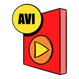 AVI file icon cartoon Royalty Free Stock Images