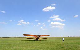 Aviação agrícola Foto de Stock Royalty Free