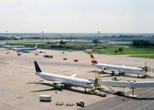 Aviação, civil, militar Foto de Stock Royalty Free