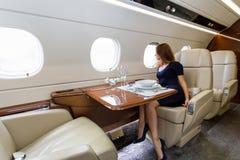 Aviação interior luxuosa do negócio dos aviões Imagem de Stock