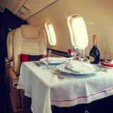 Aviação interior luxuosa do negócio dos aviões Imagens de Stock Royalty Free