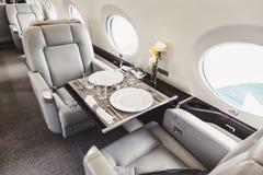 Aviação interior luxuosa do negócio dos aviões Foto de Stock