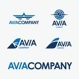 Avia-Firmenvektorlogo vektor abbildung