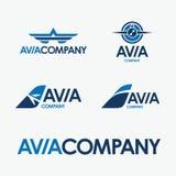 Avia firmy wektoru logo ilustracja wektor