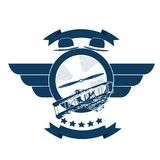 Avia_retro_badge Royalty Free Stock Photos