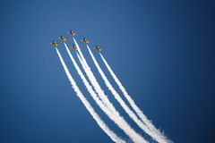 Avia show. Sky Royalty Free Stock Photography