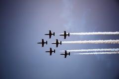 Avia show. Sky Royalty Free Stock Images