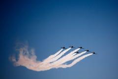 Avia show. Sky Stock Image