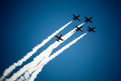 Avia show. Sky Stock Photo