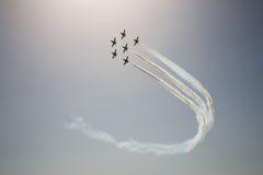 Avia show. Sky Royalty Free Stock Photos
