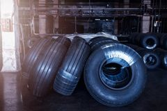 Avia tires production. Industrial space Royalty Free Stock Images