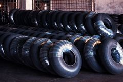 Avia tires production. Industrial space Royalty Free Stock Photography