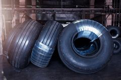 Avia tires production. Industrial space Stock Images