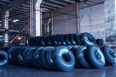 Avia tires production. Industrial space Stock Photography