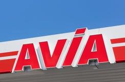 AVIA znak na dachu stacja paliwowa Obraz Royalty Free