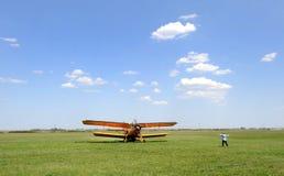 Aviación agrícola Foto de archivo libre de regalías