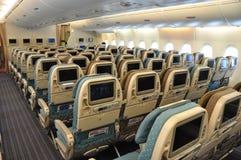 Aviación: A-380 de clase turista de Singapore Airlines fotografía de archivo