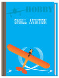 Aviación de la afición del libro pequeña stock de ilustración