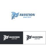 Aviación Logo Design Five Fotos de archivo