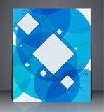 Aviador abstracto del folleto del negocio, diseño geométrico con los cuadrados y círculos, de tamaño A4 libre illustration