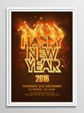 Aviador, bandera o folleto por el Año Nuevo 2016 Foto de archivo libre de regalías
