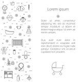Aviador con los iconos del bebé libre illustration