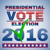 Aviador de la elección del voto presidencial Fotografía de archivo