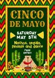 Aviador de la fiesta del partido de Cinco de Mayo del mexicano del vector stock de ilustración