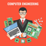 Aviador de la ingeniería informática libre illustration