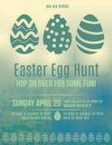 Aviador de la invitación de la caza del huevo de Pascua stock de ilustración