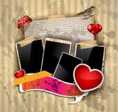 Aviador de la invitación del partido del día de tarjeta del día de San Valentín ilustración del vector