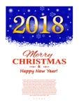 Aviador de la Navidad con los elementos decorativos en un fondo oscuro Ilustración del vector Foto de archivo