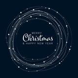 Aviador de la Navidad/plantilla minimalistas de la tarjeta ilustración del vector