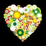 Aviador de la tarjeta del día de San Valentín con el corazón stock de ilustración