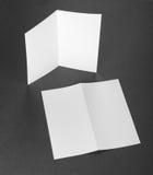 Aviador de papel plegable blanco en blanco Imagen de archivo libre de regalías