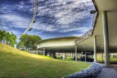 Aviador de Singapur, de la cabina de boleto central Foto de archivo libre de regalías