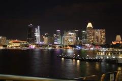 Aviador de Singapur en la noche Fotografía de archivo libre de regalías