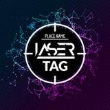 Aviador del cartel del juego de la blanco de la etiqueta del laser Bandera del lasertag del vector para el partido de la diversió libre illustration