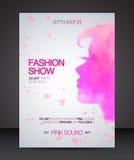 Aviador del desfile de moda con la silueta rosada de la acuarela de la mujer hermosa Imagenes de archivo