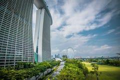 Aviador del hotel y de Singapur de Marina Bay Sands en Singapur foto de archivo