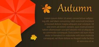 Aviador del otoño con el paraguas stock de ilustración