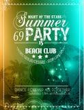 Aviador del partido del verano para los eventos del club de la música stock de ilustración