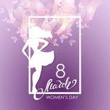 Aviador del partido para la celebración internacional del día de las mujeres ilustración del vector