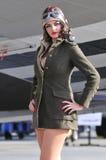 Aviador fêmea fotografia de stock royalty free
