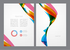 Aviador multicolor brillante moderno abstracto Fotos de archivo