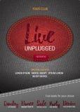 Aviador o bandera de Live Unplugged Music con el fondo del dril de algodón libre illustration
