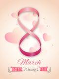 Aviador o folleto para la celebración del día de las mujeres Imagen de archivo libre de regalías